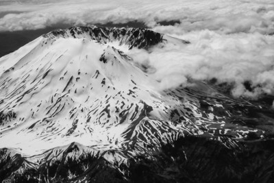 Mt. St. Helens in Black & White
