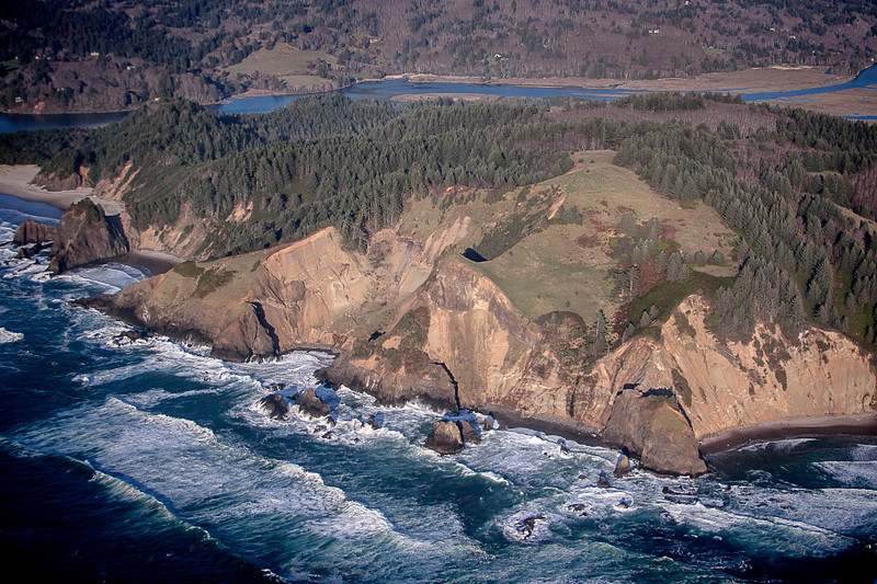 Over the Central Oregon Coast